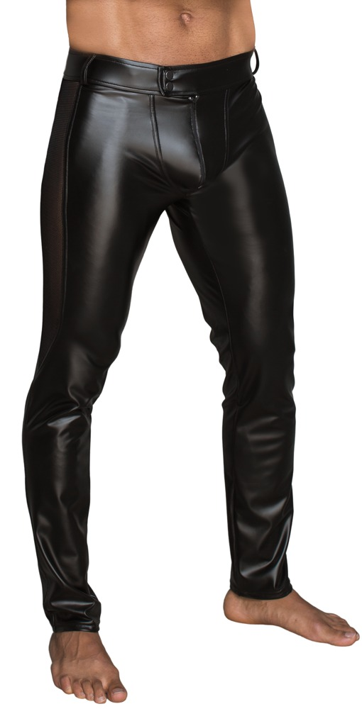 sexy wetlook broek man