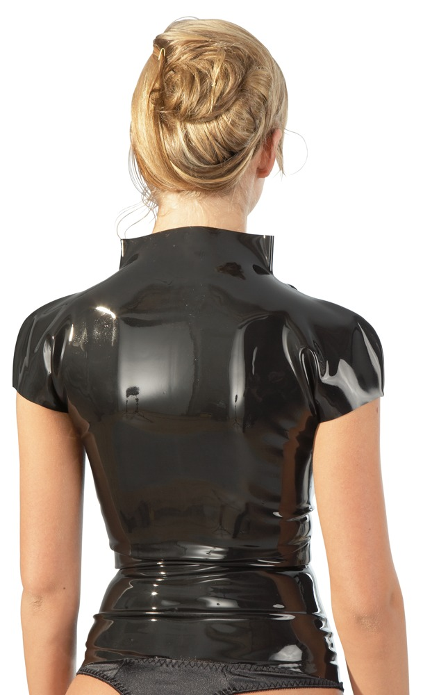 latex top met korte mouwen