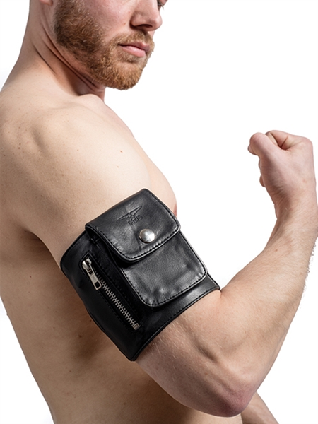 leren arm wallet