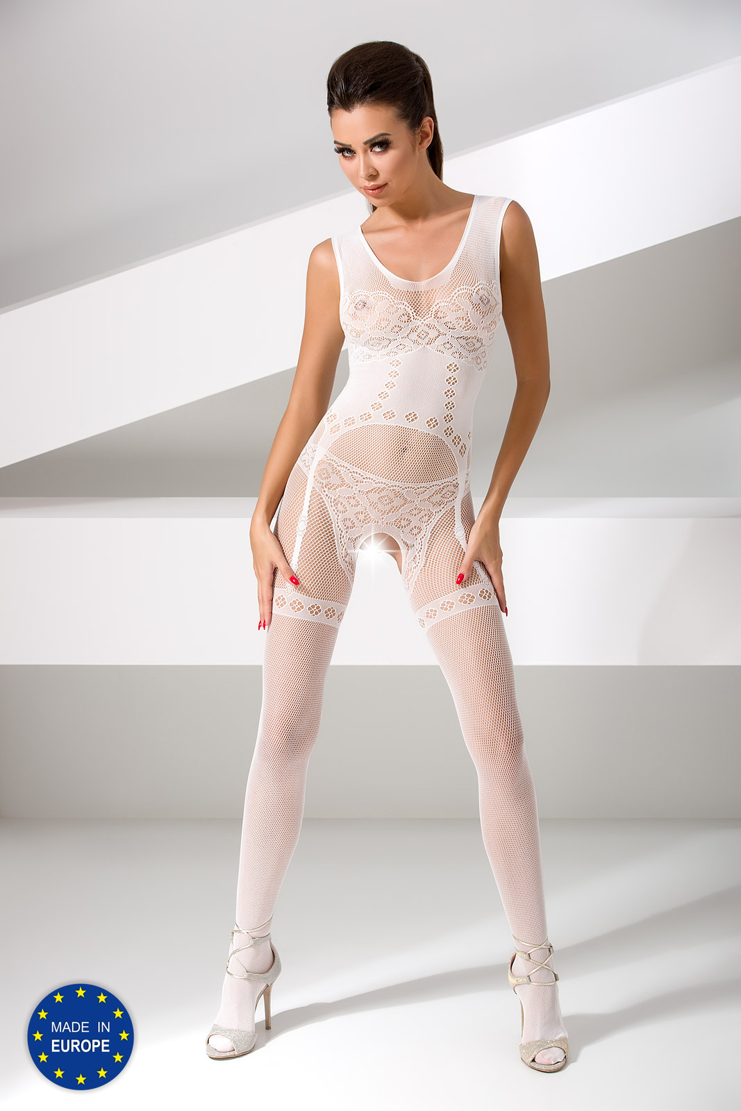 sexy witte bodystocking