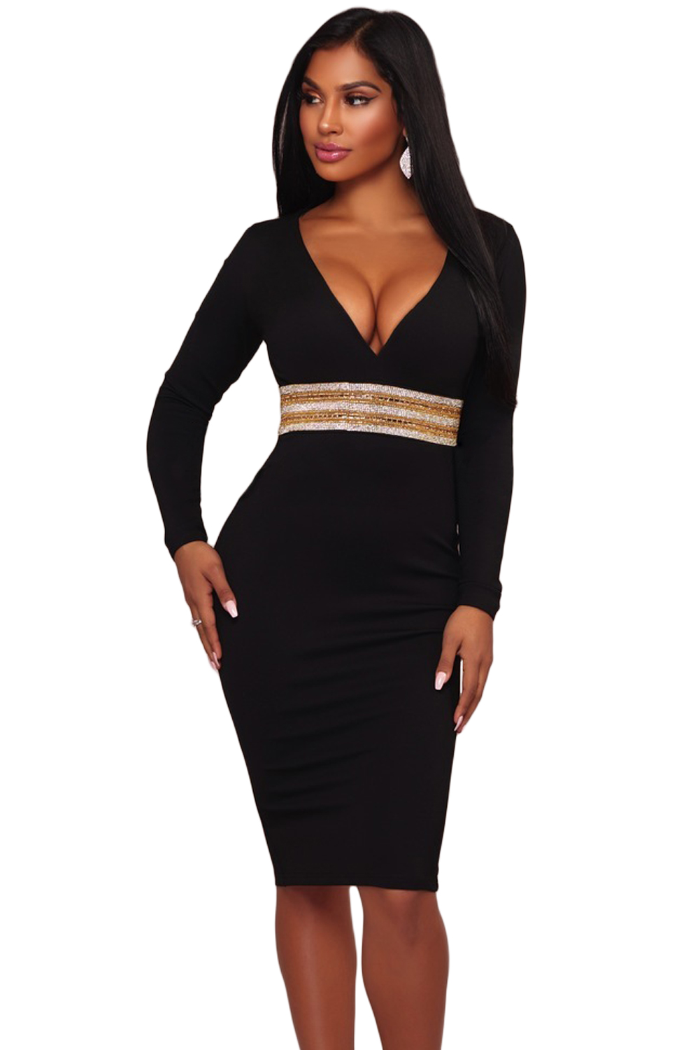 bodycon dress zwart