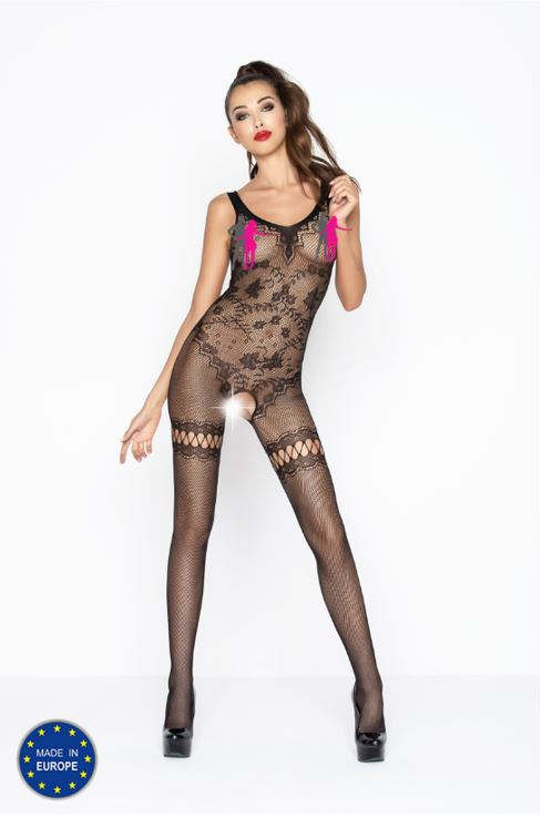 sexy visnet bodystocking open kruis