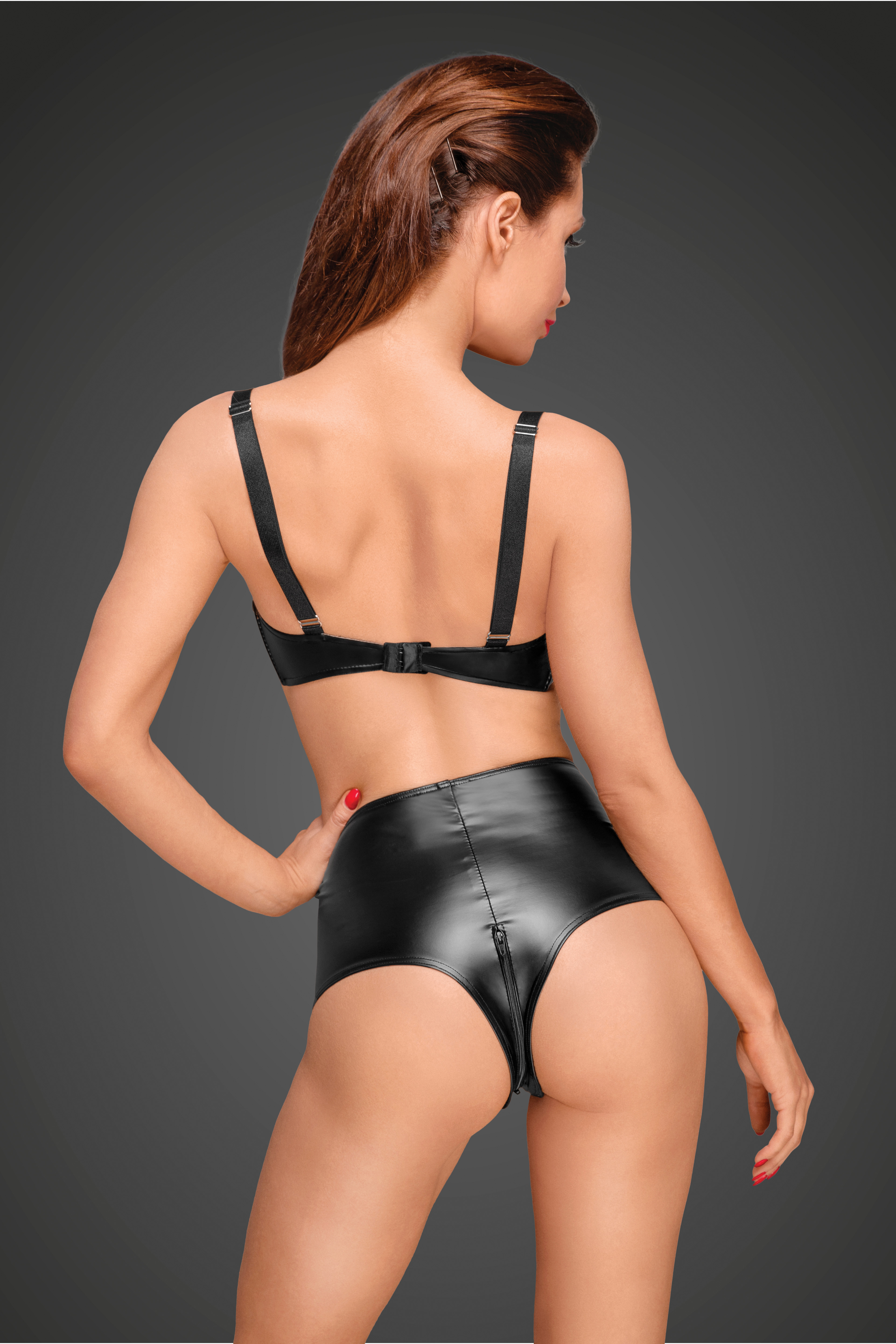 Sexy Wetlook Hoge Taille Short Decadence