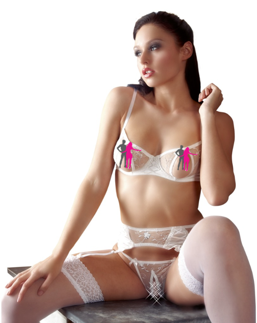 Lingerie Setje Wit - Abierta Fina by Cottelli Collection