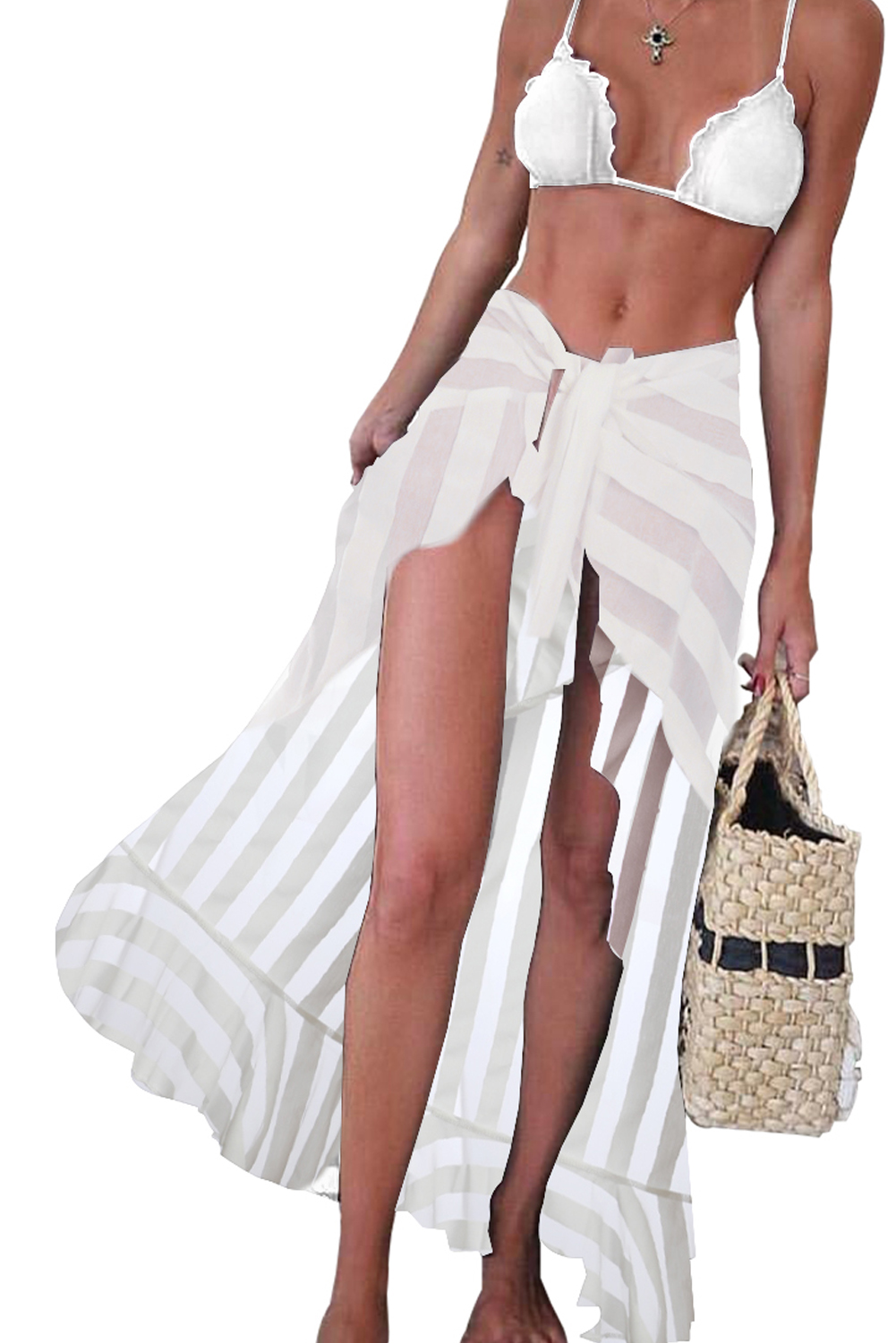 hippe beach skirt wit