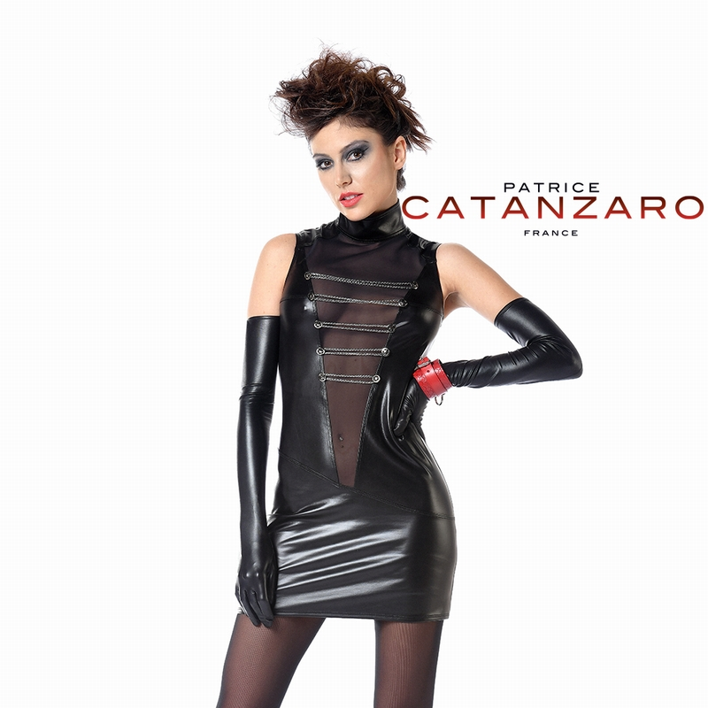 Uzi jurk wetlook patrice catanzaro
