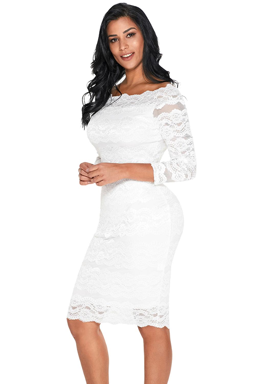 wit kanten kleed