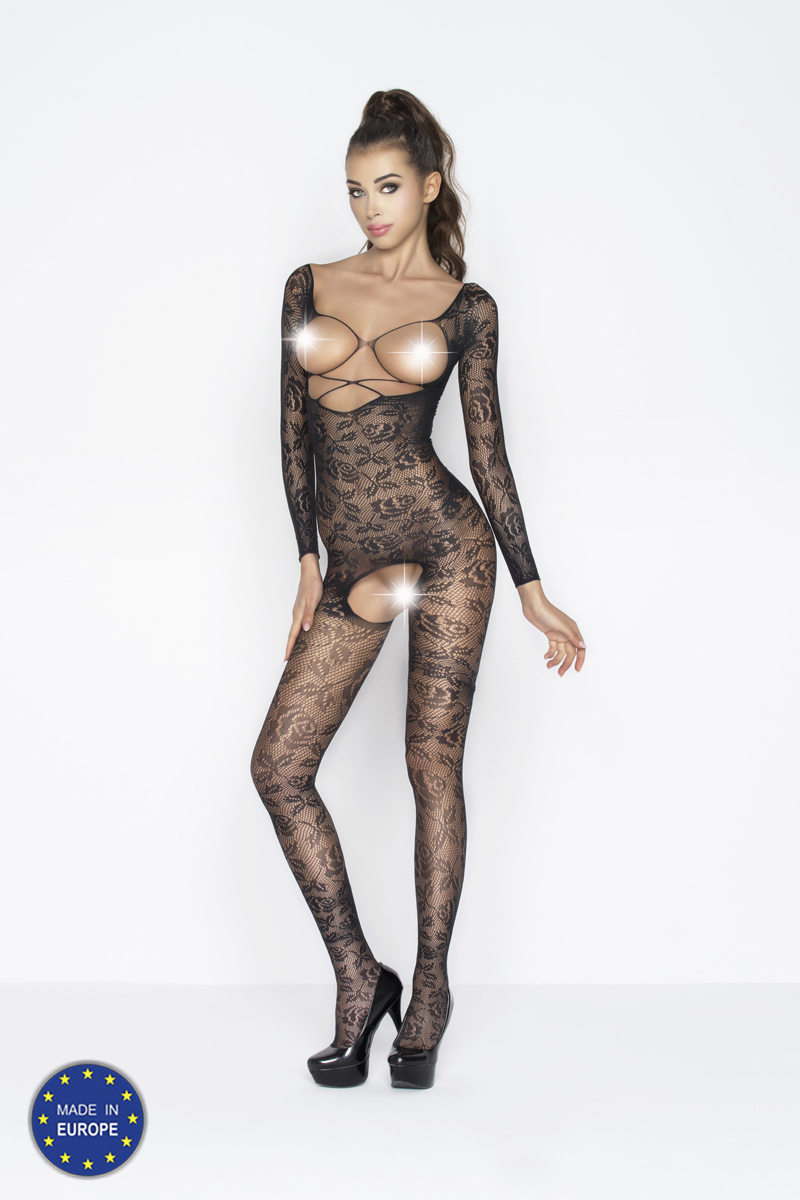 sexy bodystocking met open cups