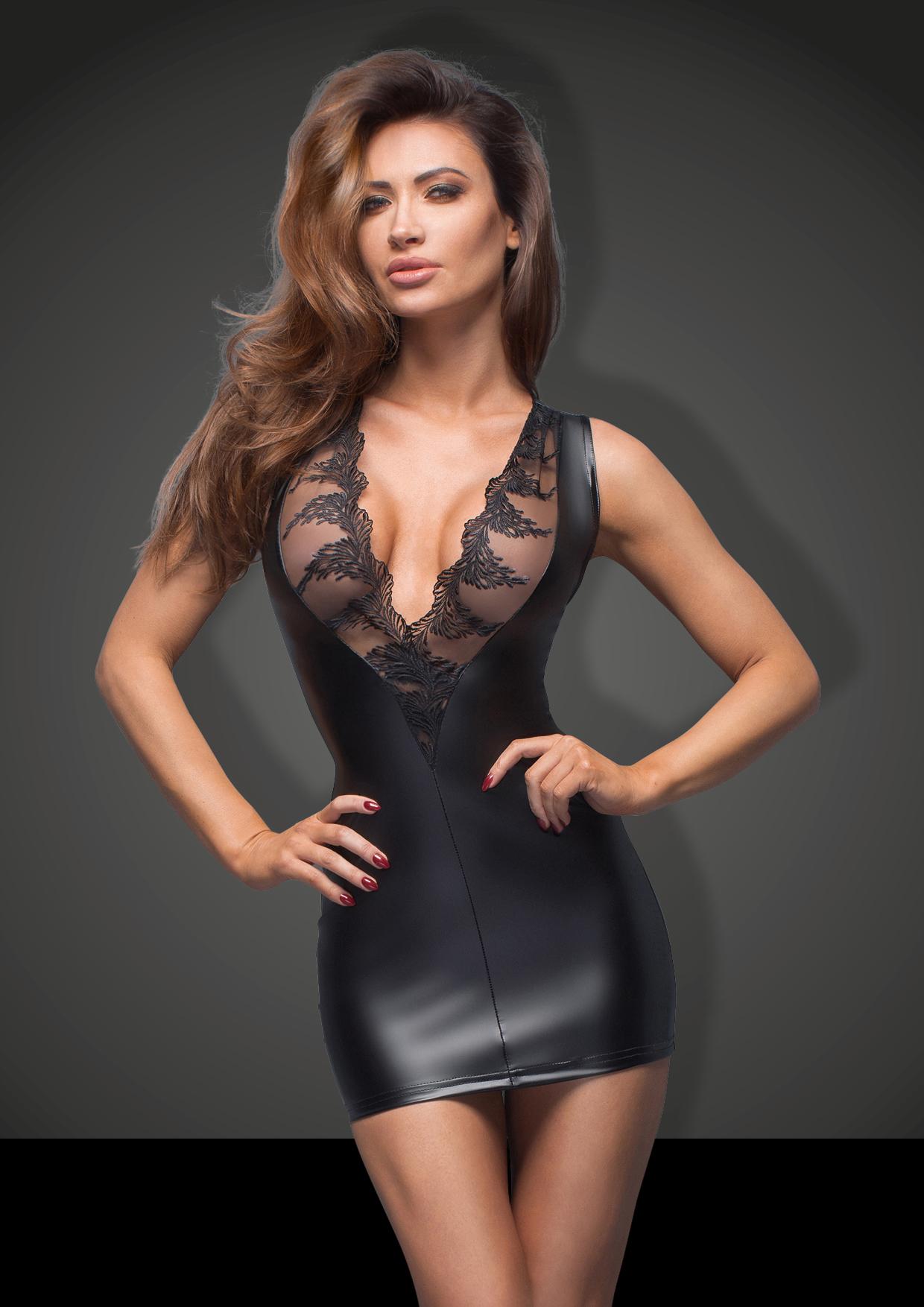 wetlook jurk