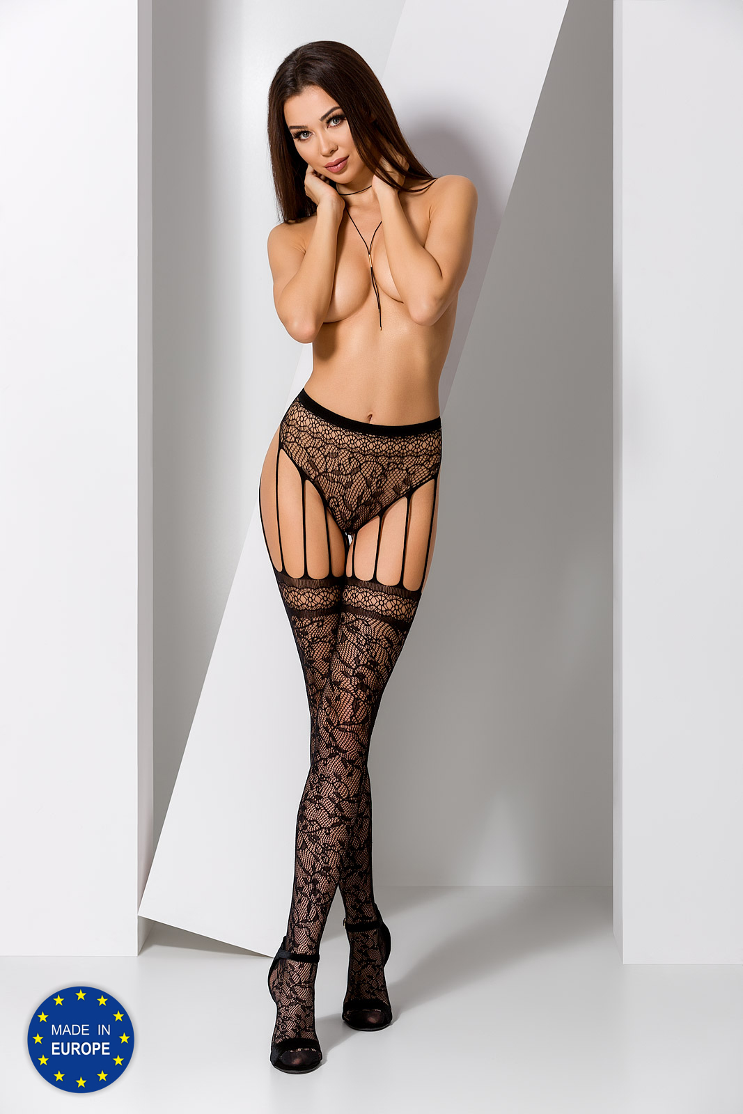 Passion Jarretelles panty S003 black