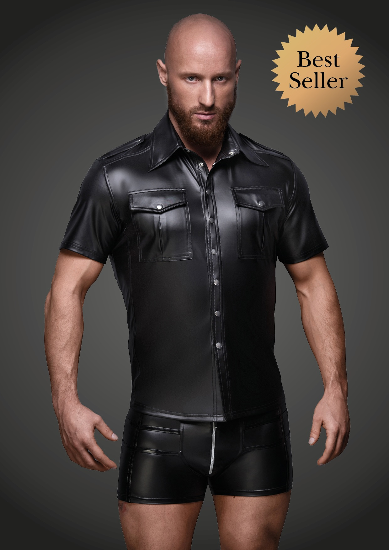 wetlook shirt man