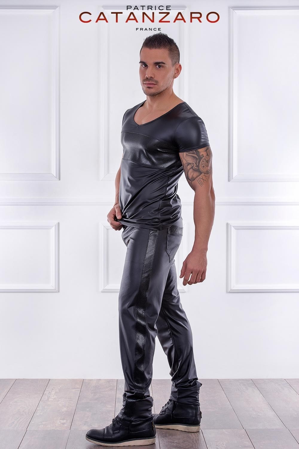 sexy wetlook broek catanzaro man