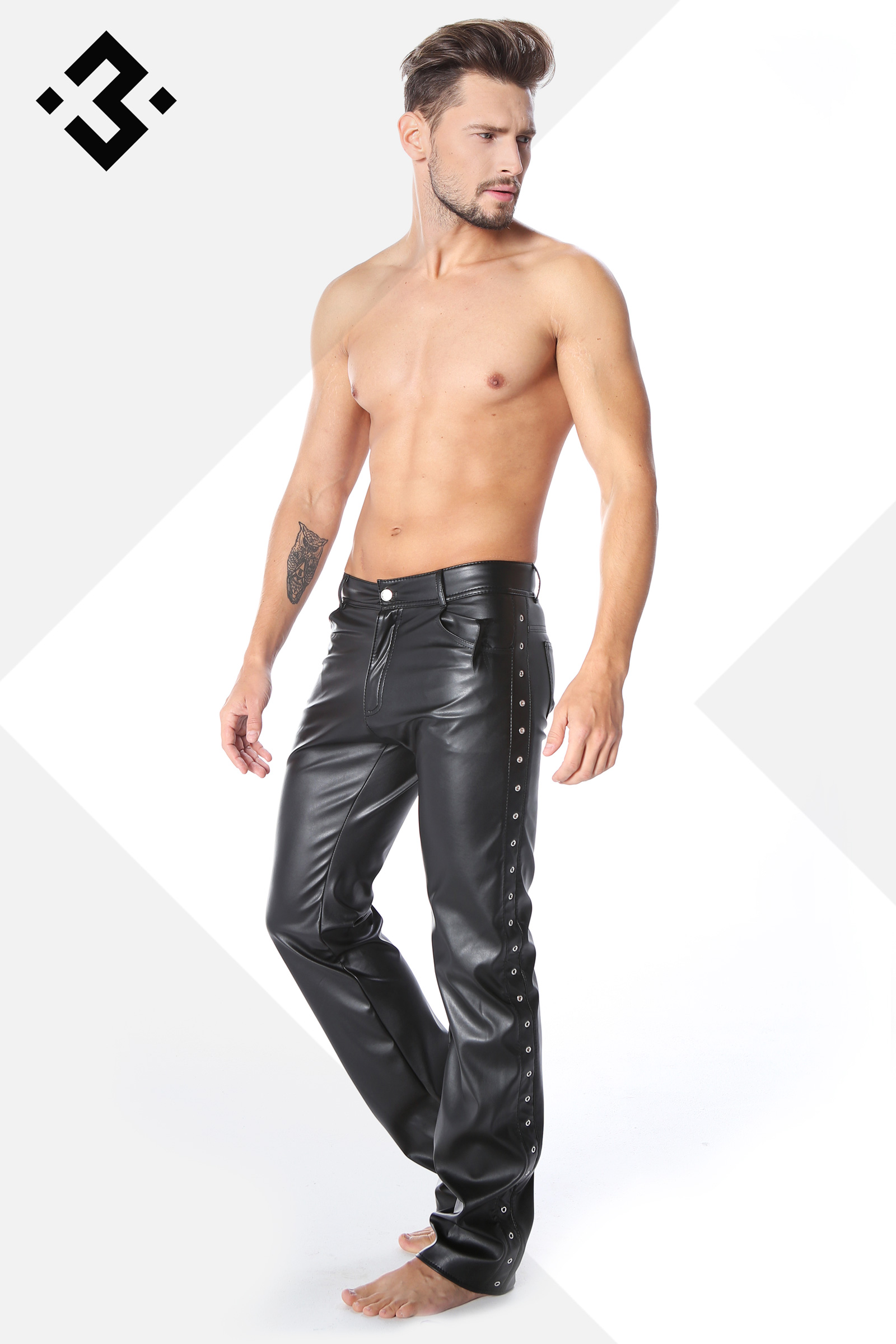 Hedendaags stoer en sexy leren broek voor de man -clubwearcompan NT-97